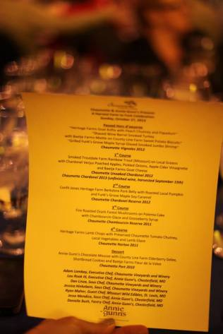 gorgeous, gorgeous menu & collaboration of Chaumette Chef Adam Lambay and Annie Gunn's & Smokehouse Market Chef Lou Rook