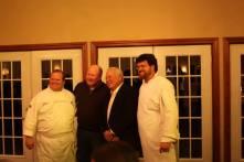 Annie Gunn's & Smokehouse Market Chef Lou Rook, Gerry Jones from Jones Heritage Farm, Chaumette Owner Hank Johnson and Chaumette Exec Chef Adam Lambay