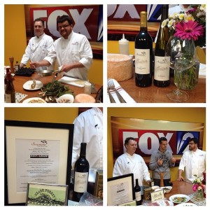 Chef Adam and Rex on Fox 2